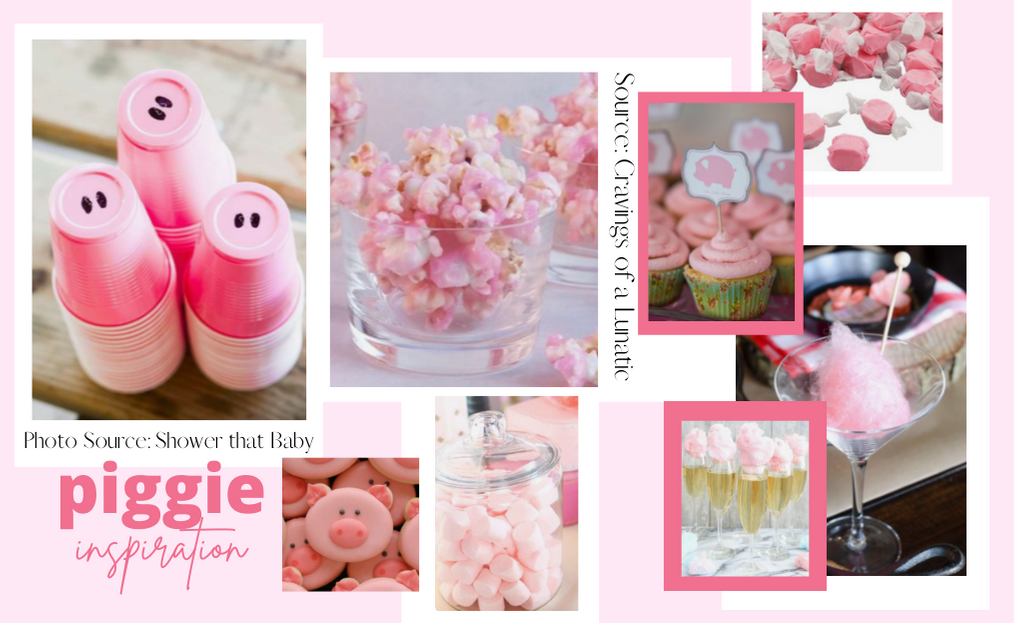 Collection of ideas for incorporating pink piggie ideas into your next book club