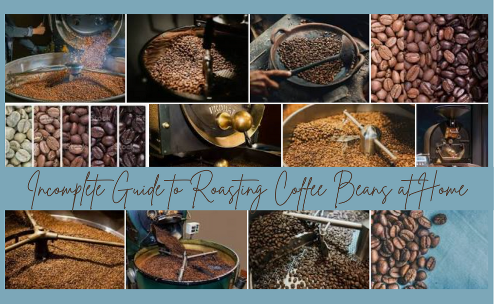 Pictures of coffee roasting