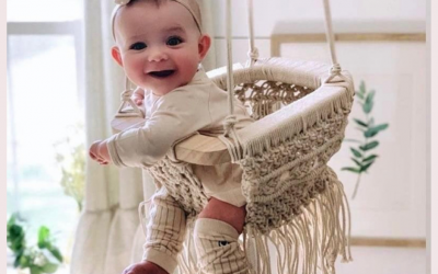 Awww. Macrame swing chair? I wish I had a swing like that.