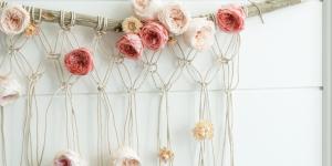 floral macrame wall hanging