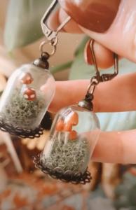 Mushroom Terrarium Earrings